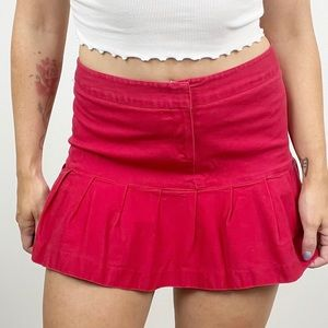 Star City Pleated Mini Skirt Stretch Red Size 7